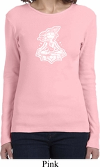Ladies Yoga Shirt Krishna Long Sleeve Tee T-Shirt