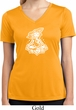 Ladies Yoga Shirt Krishna Moisture Wicking V-neck Tee T-Shirt