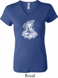 Ladies Yoga Shirt Krishna V-neck Tee T-Shirt