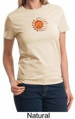 Ladies Yoga Shirt Larger Sizes Sleeping Sun Meditation T-shirt