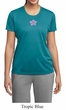 Ladies Yoga Shirt Layered Flower Patch Moisture Wicking Tee T-Shirt