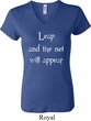 Ladies Yoga Shirt Leap V-neck Tee T-Shirt