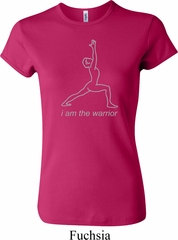 Ladies Yoga Shirt Line Warrior Crewneck Tee T-Shirt