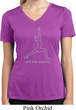 Ladies Yoga Shirt Line Warrior Moisture Wicking V-neck Tee T-Shirt