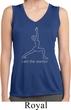 Ladies Yoga Shirt Line Warrior Sleeveless Moisture Wicking Tee T-Shirt