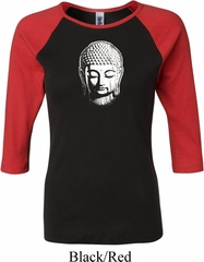 Ladies Yoga Shirt Little Buddha Head Raglan Tee T-Shirt