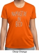 Ladies Yoga Shirt Namastay In Bed Moisture Wicking Tee