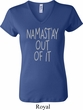 Ladies Yoga Shirt Namastay Out Of It V-neck Tee T-Shirt