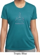 Ladies Yoga Shirt Namaste Lotus Pose Moisture Wicking Tee T-Shirt