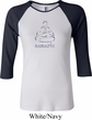 Ladies Yoga Shirt Namaste Lotus Pose Raglan Tee T-Shirt