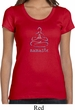 Ladies Yoga Shirt Namaste Lotus Pose Scoop Neck Tee T-Shirt