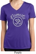 Ladies Yoga Shirt Namaste Om Moisture Wicking V-neck Tee T-Shirt