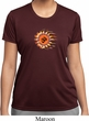 Ladies Yoga Shirt Ohm Sun Moisture Wicking Tee T-Shirt