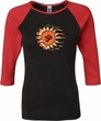 Ladies Yoga Shirt Ohm Sun Raglan Tee T-Shirt