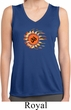 Ladies Yoga Shirt Ohm Sun Sleeveless Moisture Wicking Tee T-Shirt