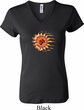 Ladies Yoga Shirt Ohm Sun V-neck Tee T-Shirt