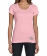 Ladies Yoga Shirt OM Heart Bottom Print Scoop Neck Tee T-Shirt