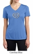 Ladies Yoga Shirt OM Heart Moisture Wicking V-neck Tee T-Shirt