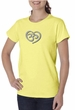 Ladies Yoga Shirt OM Heart Organic Tee T-Shirt