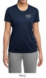 Ladies Yoga Shirt OM Heart Pocket Print Moisture Wicking Tee T-Shirt