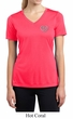 Ladies Yoga Shirt OM Heart Pocket Print Moisture Wicking V-neck Tee