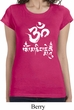 Ladies Yoga Shirt OM Mani Padme Hum Longer Length Tee T-Shirt