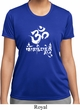 Ladies Yoga Shirt OM Mani Padme Hum Moisture Wicking Tee T-Shirt