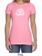 Ladies Yoga Shirt OM Tie Dye Crewneck Tee T-Shirt