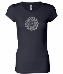 Ladies Yoga Shirt Sahasrara Chakra Meditation Longer Length Shirt