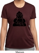 Ladies Yoga Shirt Shadow Buddha Moisture Wicking Tee T-Shirt