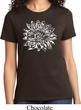 Ladies Yoga Shirt Sketch Lotus Tee T-Shirt