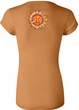 Ladies Yoga Shirt - Sleeping Sun Longer Length Tee (back print)