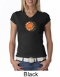 Ladies Yoga Shirt Sleeping Sun Meditation V-neck Shirt