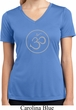 Ladies Yoga Shirt Thin OM Moisture Wicking V-neck Tee T-Shirt
