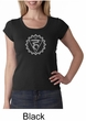 Ladies Yoga Shirt Vishuddha Chakra Meditation Scoop Neck Shirt