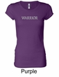Ladies Yoga Shirt Warrior Text Longer Length Tee T-Shirt