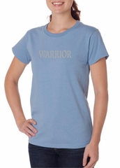 Ladies Yoga Shirt Warrior Text Organic Tee T-Shirt