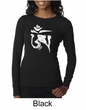 Ladies Yoga Shirt White Tibetan Om Long Sleeve Thermal