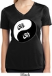 Ladies Yoga Shirt Yin Yang AUM Moisture Wicking V-neck Tee T-Shirt