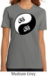 Ladies Yoga Shirt Yin Yang AUM Organic Tee T-Shirt