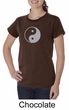 Ladies Yoga Shirt Yin Yang Big Print Meditation Organic T-shirt