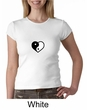 Ladies Yoga Shirt Yin Yang Heart Small Print Crewneck Tee T-Shirt