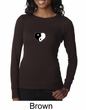 Ladies Yoga Shirt Yin Yang Heart Small Print Long Sleeve Thermal