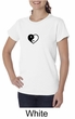 Ladies Yoga Shirt Yin Yang Heart Small Print Organic Tee T-Shirt