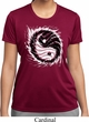 Ladies Yoga Shirt Yin Yang Sun Moisture Wicking Tee T-Shirt