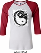 Ladies Yoga Shirt Yin Yang Sun Raglan Tee T-Shirt