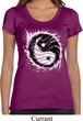 Ladies Yoga Shirt Yin Yang Sun Scoop Neck Tee T-Shirt