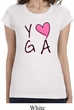 Ladies Yoga Shirt Yoga Love Longer Length Tee T-Shirt