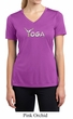 Ladies Yoga Shirt Yoga Spelling Moisture Wicking V-neck Tee T-Shirt