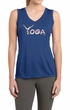 Ladies Yoga Shirt Yoga Spelling Sleeveless Moisture Wicking Tee